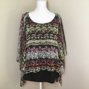 Dress Barn Poncho Blouse Shirt 18/20